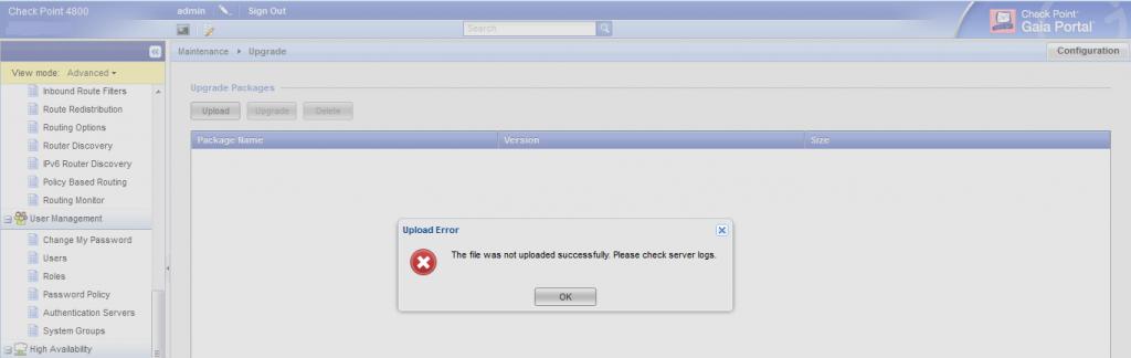 CheckPoint NGX R75.47 error