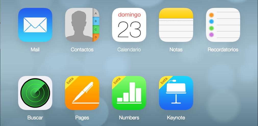 iCloud Servicios
