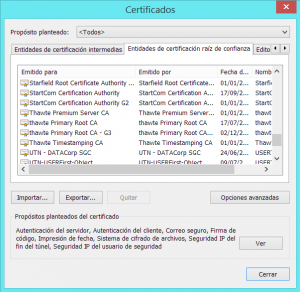 RootCertificates
